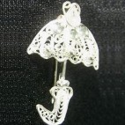 Umbrellas Brooch
