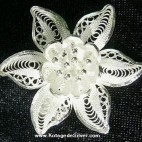Amaryllis Flower Silver