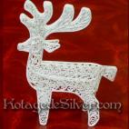 Tempat Kartu Rusa Natal Silver