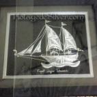 Kapal Layar Silver Frame 2