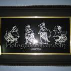 4 Wayang Silver Frame
