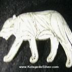Tiger Silver Brooch