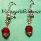 Beauty Red Earing