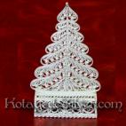 Tempat Kartu Pohon Natal Silver
