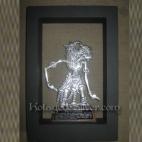 Gatotkaca 3D Silver Frame