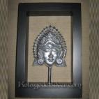 Topeng Bali 3d Silver Frame