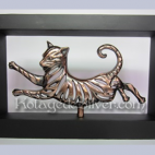 Kucing 3D Solid Frame