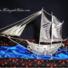 Sailing Ship Silver 3