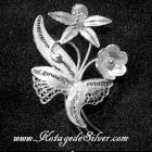 Antique Flower Silver