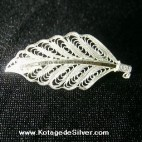 Leaves Silver Brooch